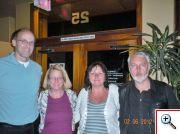 Jednání o mezinárodní spolupráci. Zleva: Dan Jeske (president konference), Karin Jeske, Marcela Salficka (TriloByte), Karel Kupka (TriloByte)