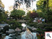 Večeře v univerzitní japonské zahradě