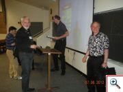 Karel Kupka (TriloByte) a Emanuel Yaschin (ředitel výzkumu matematických metod IBM)