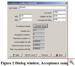 Single sample acceptance design